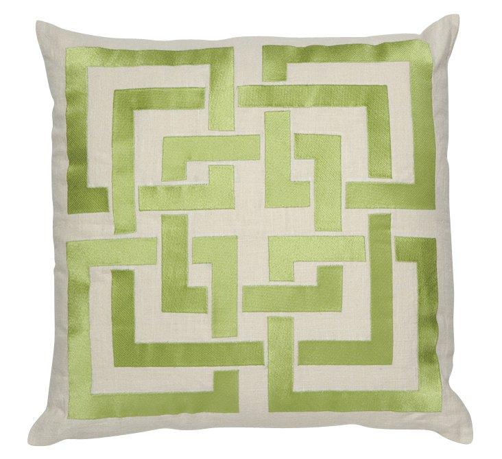 Shanghai 20x20 Linen Pillow, Green