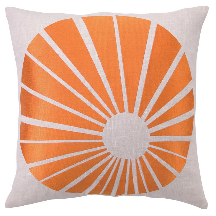 Sunburst 20x20 Pillow, Orange