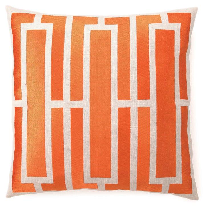 Triptych 20x20 Pillow, Orange