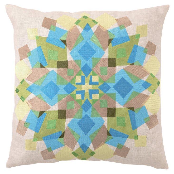 Kaleidoscope 20x20 Linen Pillow, Multi