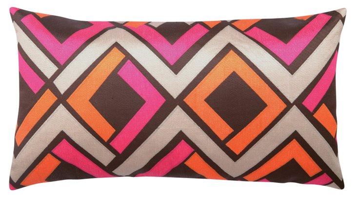 Avenida Maze 14x26 Linen Pillow, Pink