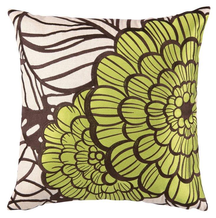 Jungle Bloom 20x20 Pillow, Green