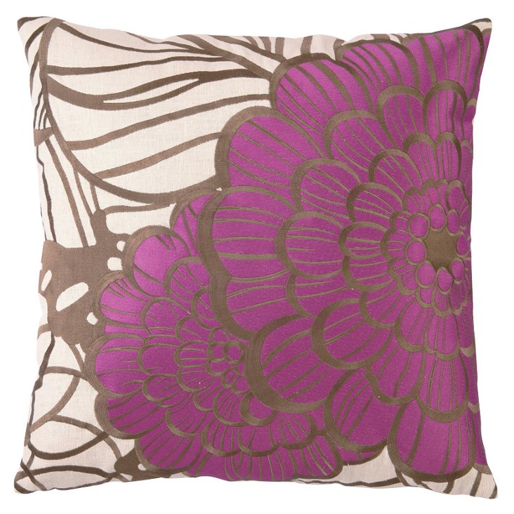 Jungle Bloom 20x20 Pillow, Purple