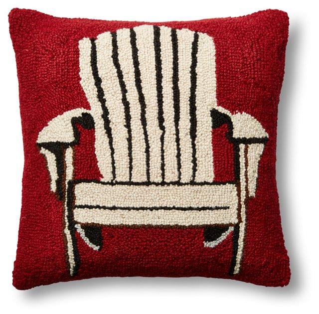 Adirondack 16x16 Wool Pillow, Red