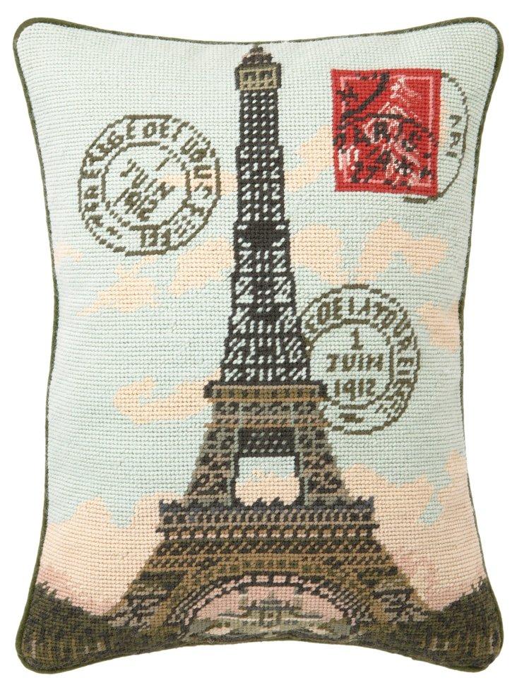 Eiffel Tower 12x16 Pillow, Multi