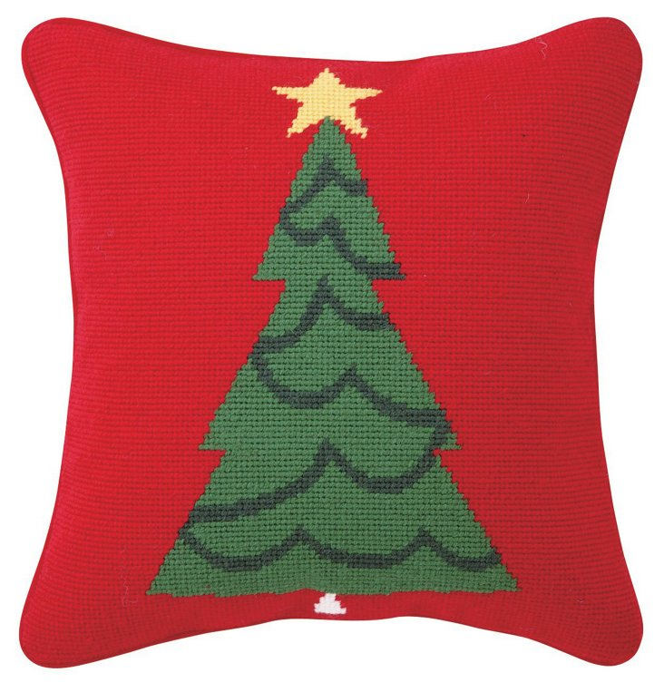 Classic Tree 12x12 Pillow, Red