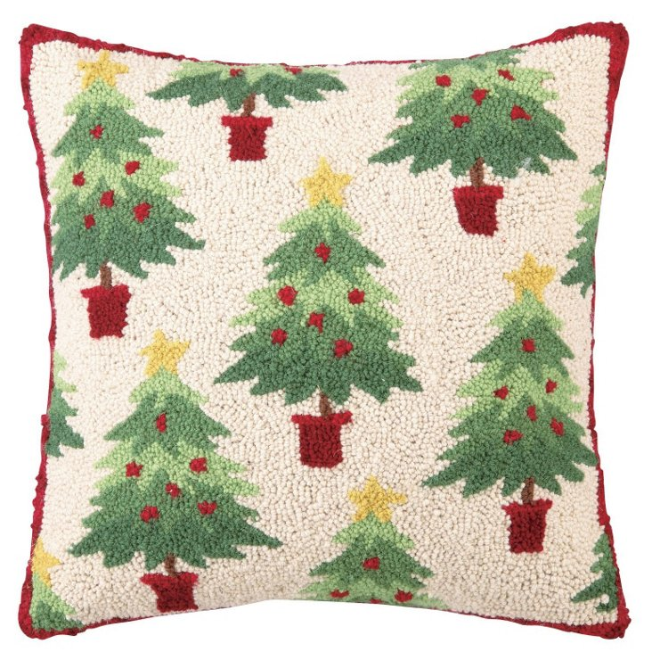 Christmas Forest 18x18 Pillow, Multi