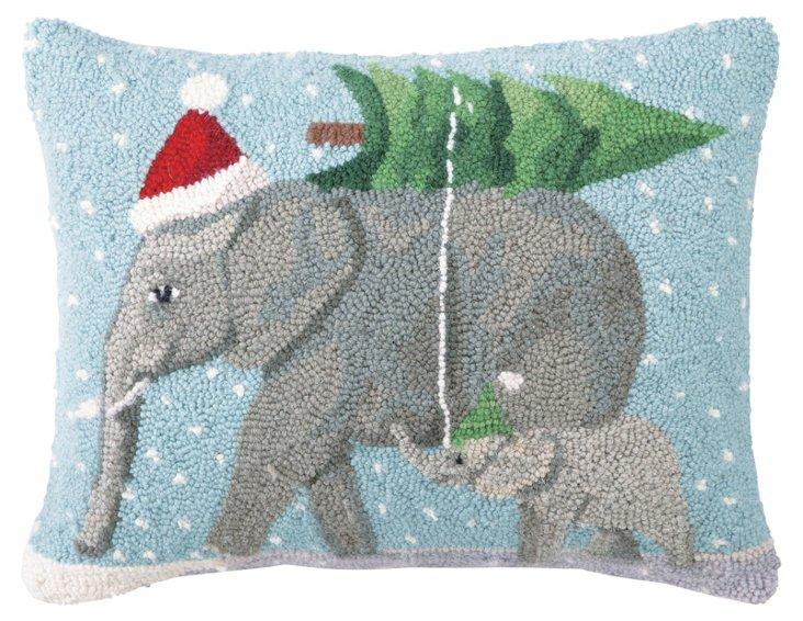 Elephants 14x18 Pillow, Multi