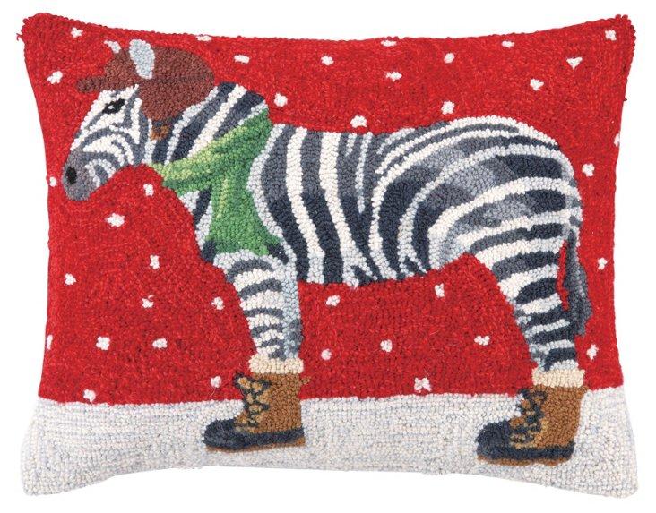 Winter Zebra 16x20 Pillow, Multi