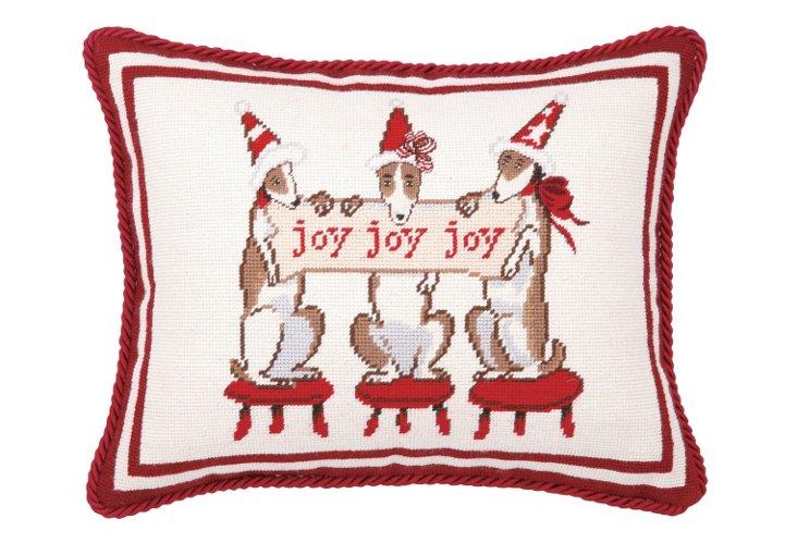 Joy Dogs 14x18 Pillow, Multi