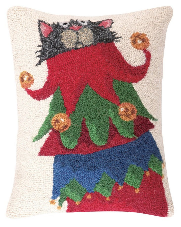 Jester Cat 14x18 Pillow, Multi