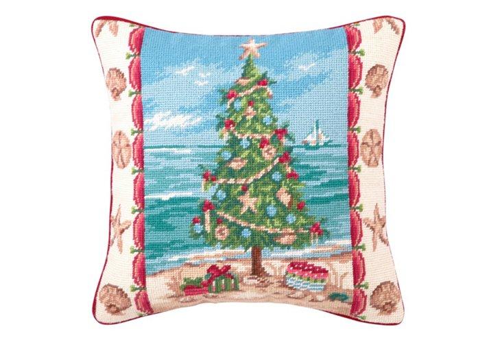 Seaside Tree 14x14 Pillow, Multi