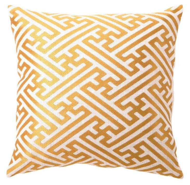 Hatch 16x16 Linen Pillow, Orange