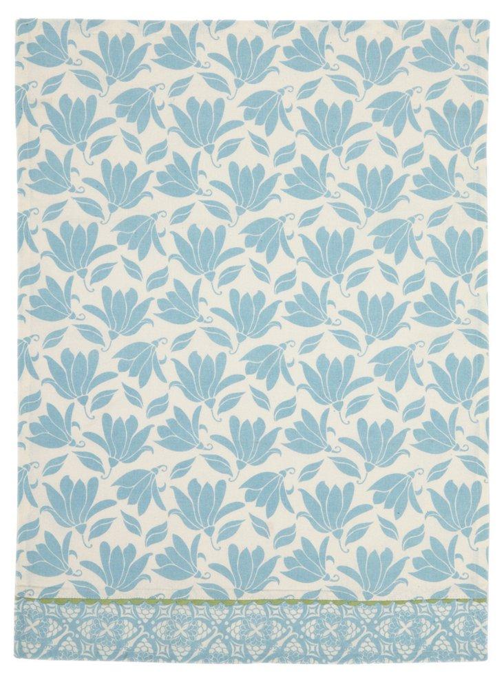 S/2  Blue Floral Kitchen Towels