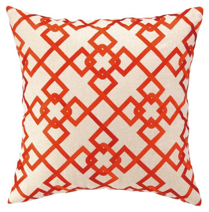 Chain Link 20x20 Pillow, Orange