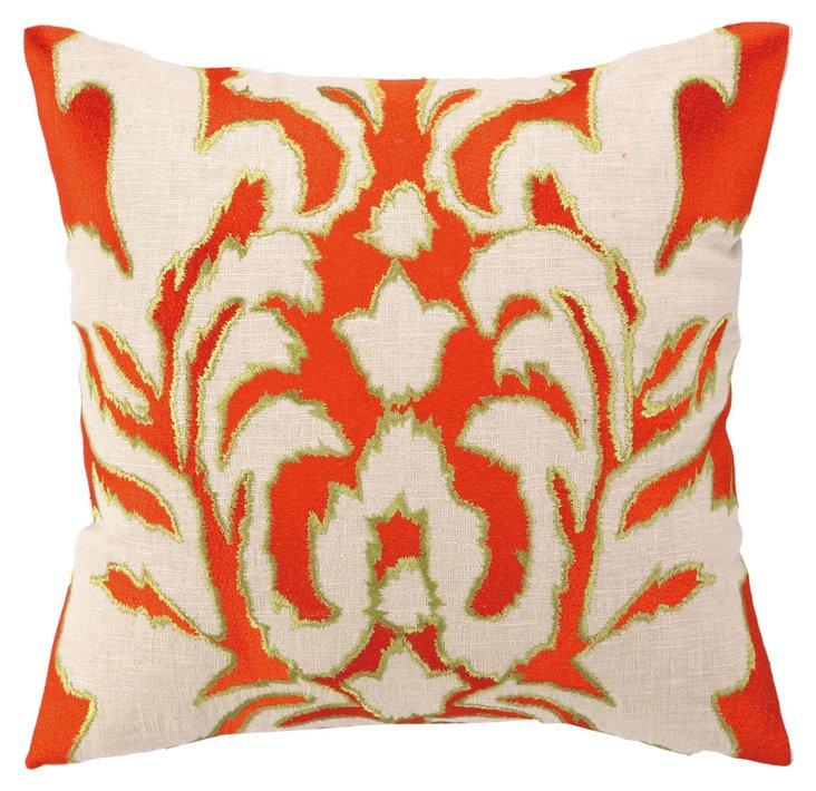 Ikat 16x16 Pillow, Orange