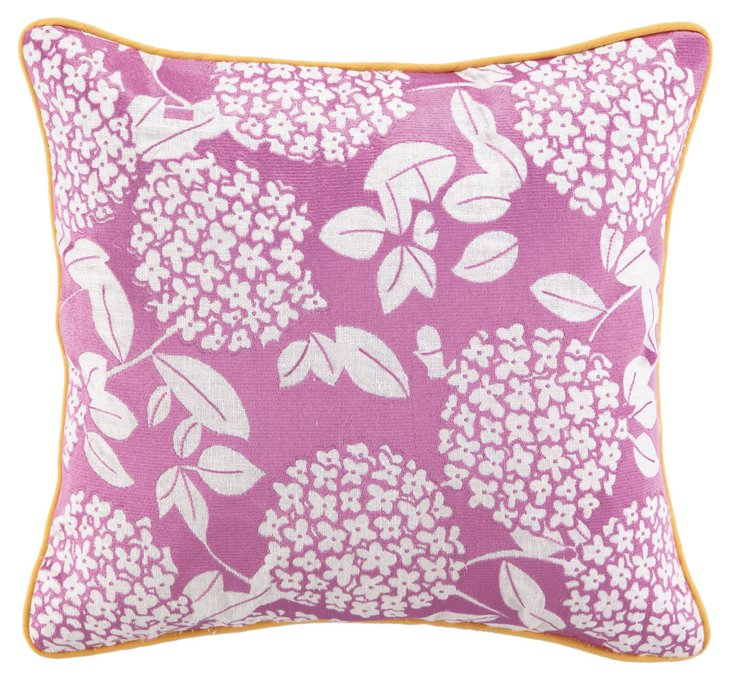 Ciprana 16x16 Cotton Pillow, Fuchsia