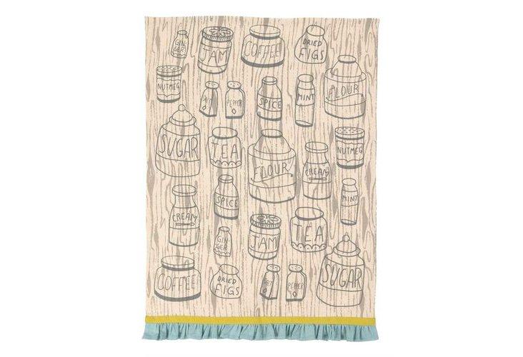 S/2 Kitchen Towels, Spice Jars