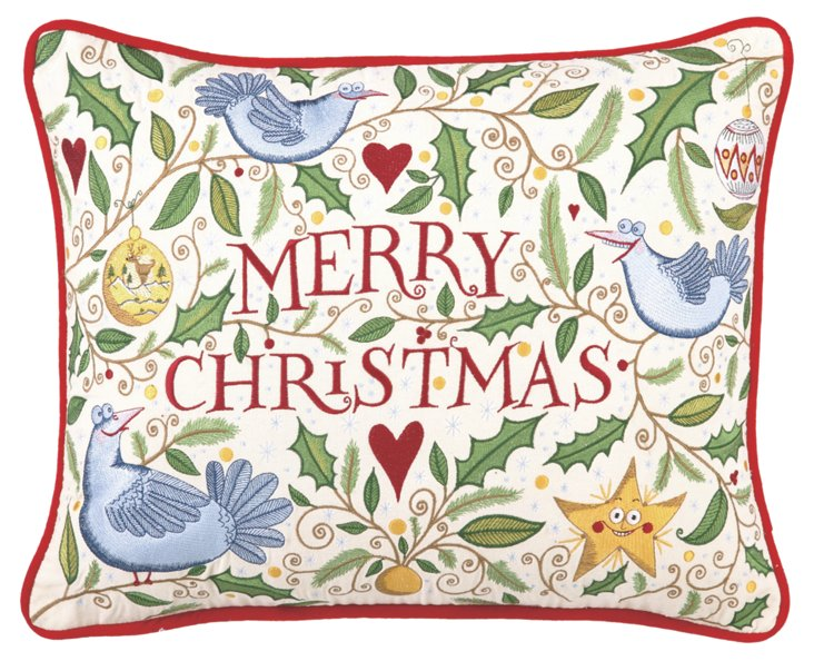 Merry Christmas 14x18 Pillow, Multi
