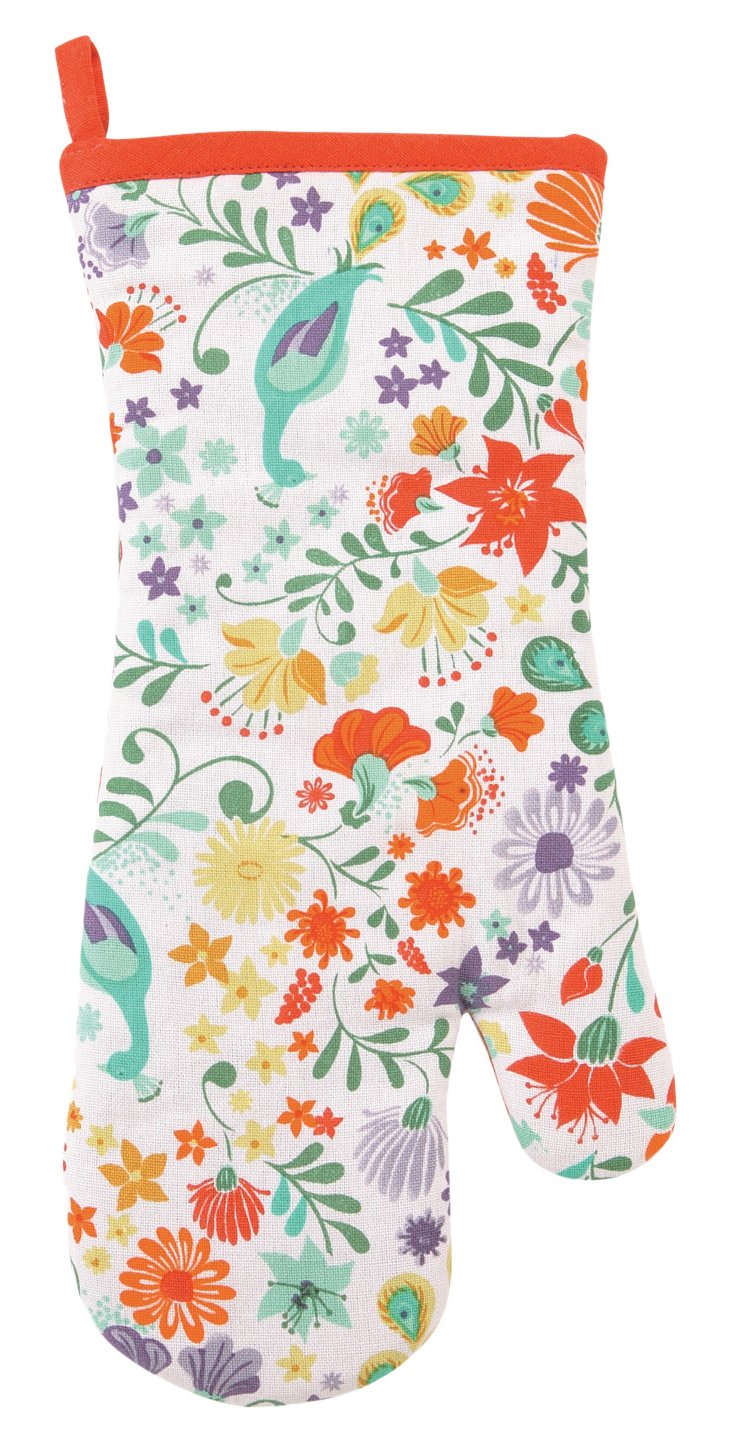 S/2 Panache Floral Oven Mitts