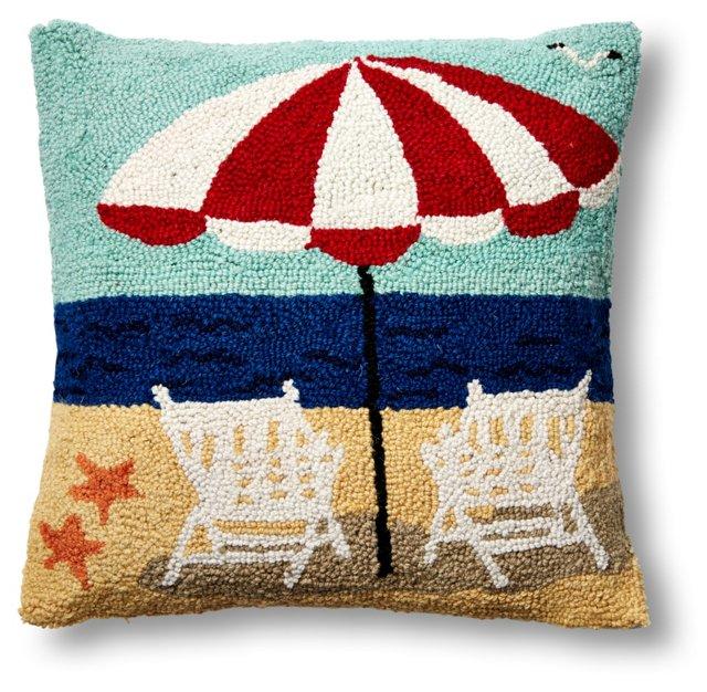 Beach 16x16 Wool Pillow