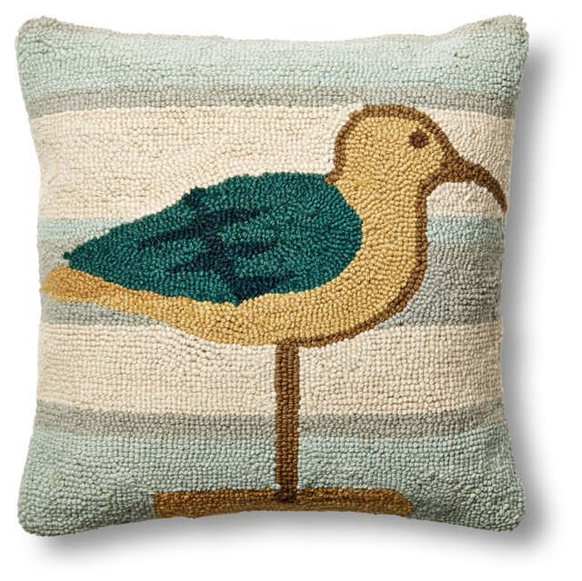 Sea Bird 16x16 Wool Pillow