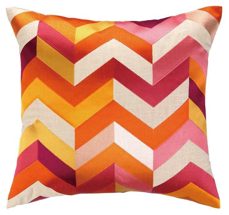 Arrow 20x20 Embroidered  Pillow, Multi