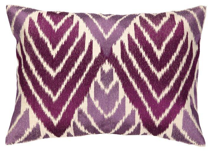 Darragh 14x20 Cotton Pillow, Purple