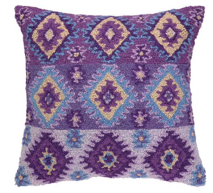 Java 20x20 Cotton Pillow, Purple