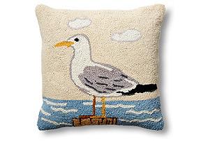 Seagull 16x16 Wool Pillow*