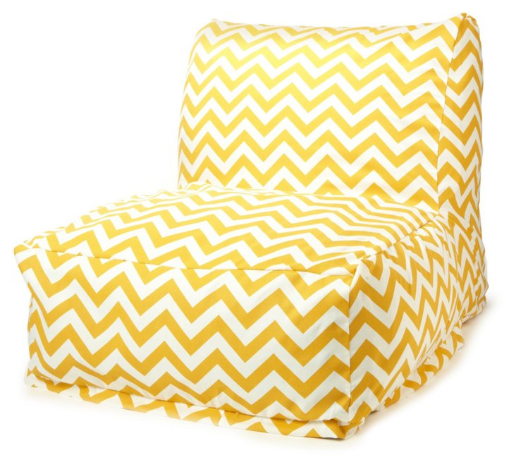Zigzag Outdoor Lounger, Yellow