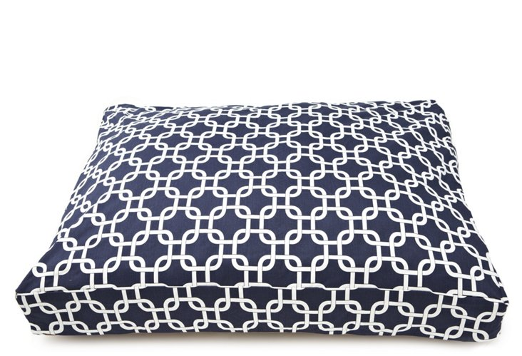 Links Rectangle Pet Bed, Navy