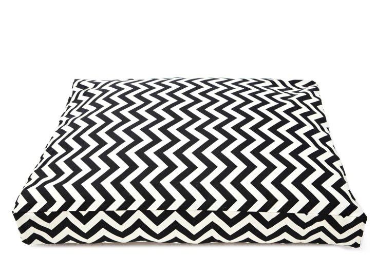 Chevron Rectangle Pet Bed, Black