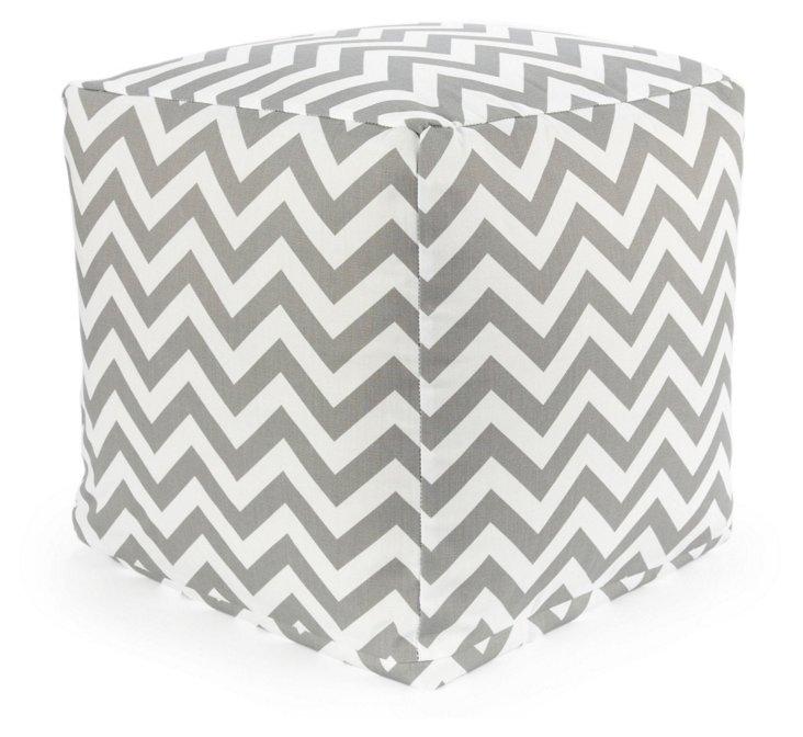 Zigzag Outdoor Cube, Gray