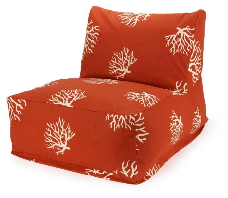 Coral Outdoor Lounger, Orange