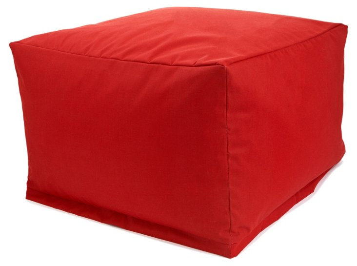 Outdoor Ottoman, Red