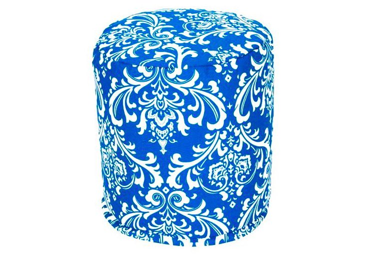 French Quarter Round Pouf, Ocean