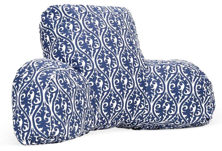 Isabelle Boyfriend Pillow, Navy Blue