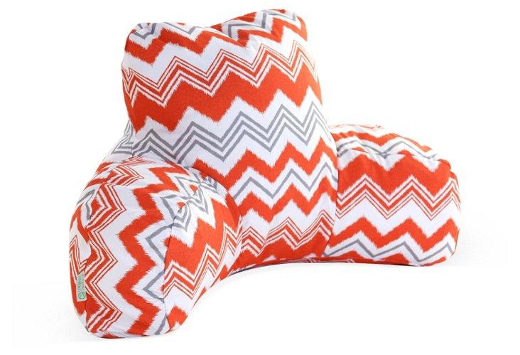 Zigzag Outdoor Boyfriend Pillow, Orange