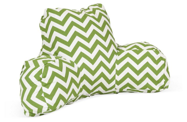 Chevron Boyfriend Pillow, Green