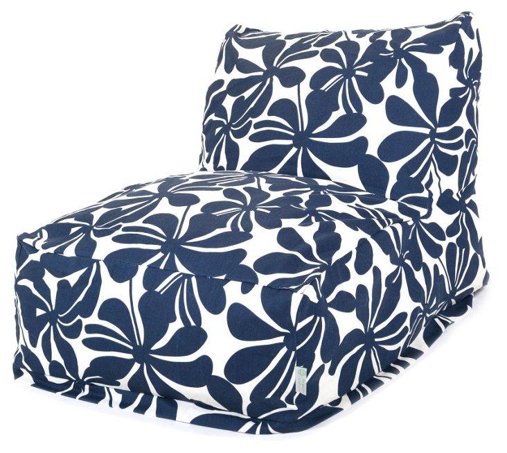 Plantation Beanbag Chair, Navy Blue