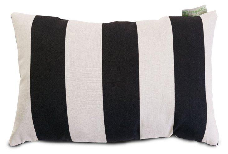 Striped 12x20 Outdoor Pillow, B&W