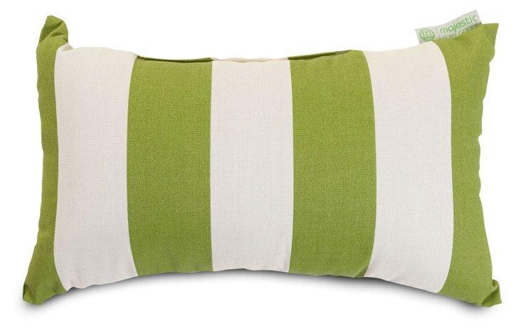 Striped 12x20 Outdoor Pillow, Green