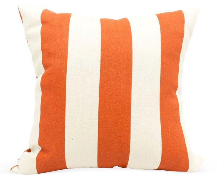 Striped 20x20 Outdoor Pillow, Orange