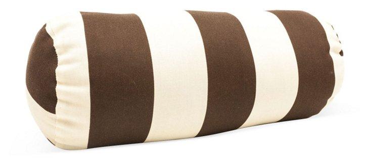 Striped 8x18 Bolster Pillow, Brown