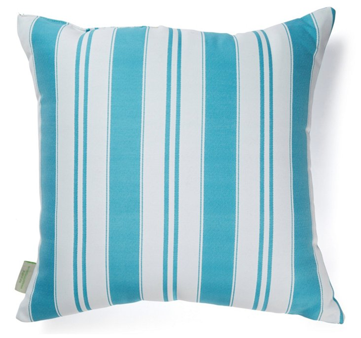 Havana 20x20 Outdoor Pillow, Turquoise