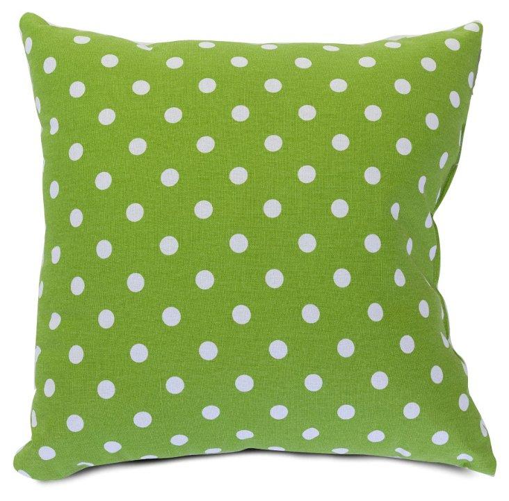Polka Dot 20x20 Pillow, Lime