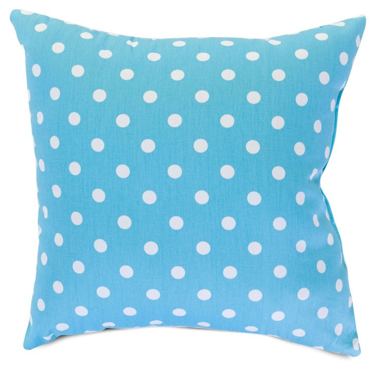 Polka Dot 20x20 Pillow, Aquamarine