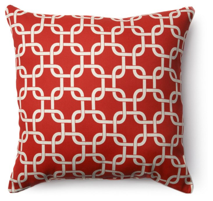 Links 20x20 Pillow, Red