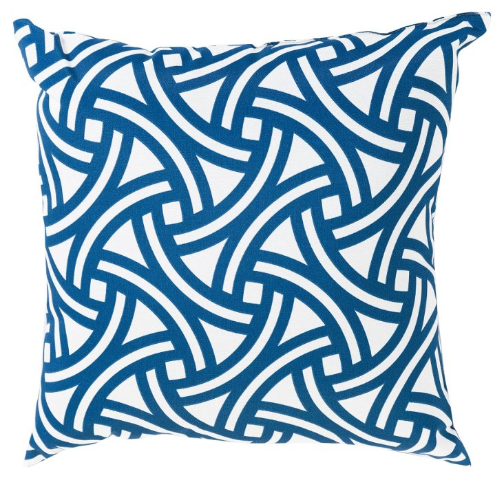 Santorini 20x20 Outdoor Pillow, Aegean
